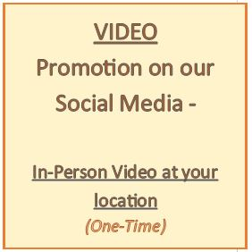 Option - An in-person video / interview at your location (up to 5 min)