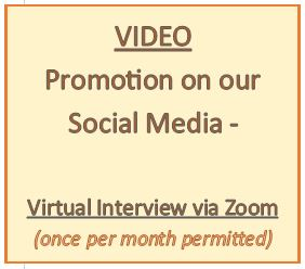 Option - A virtual video interview with you, via Zoom (up to 5 min)